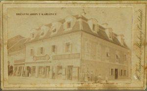 Zbirka fotografija i negativa, serija objekti, Knjižara Ivana Sagana, 1880.